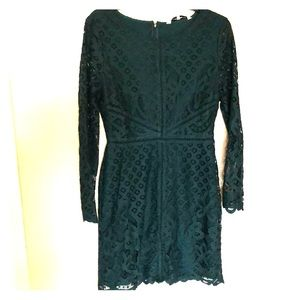 Lace Emerald Green Long Sleeved Dress